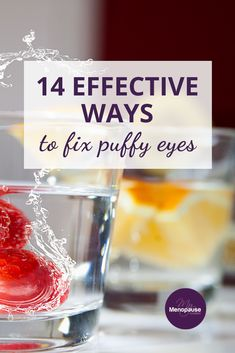 Remedies for Puffy Eyes | Not just one but 14 natural ways to reduce puffy eyes! Click the article to read all about it. #RemediesForPuffyEyes #DarkCircles #HacksForPuffyEyes Collagen Rich Foods, Natural Remedies For Menopause, Lymphatic Drainage Massage, Menopause Relief, Organic Vitamins, Face Yoga, Hormonal Changes, Puffy Eyes, Vitamin E Oil