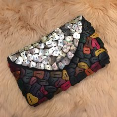 Spotted while shopping on Poshmark: Mother of Pearl Colorful & Wood Beads Clutch! #poshmark #fashion #shopping #style #Handbags