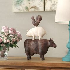 New Animal Art Figurine by Laurel Foundry Modern Farmhouse Home Decor Furniture. offers on top store Farmhouse Design, Modern Farmhouse, Farmhouse Decor, Farmhouse Ideas, Farmhouse Style, Farmhouse Wall Art, Coastal Farmhouse, French Farmhouse, Window Wall Decor