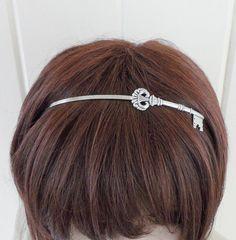Steampunk Skeleton Key Headband Metal Headband by bellamantra, $23.00