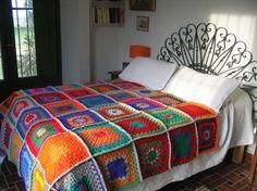 Telas para no pasar frío durante el invierno manta-crochet-lana1 ...
