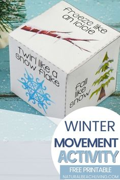 Winter Movement Activities Free Printable for Toddlers and Preschoolers - Natural Beach Living