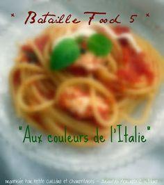 """""""Aux couleurs de l'Italie""""... Sucré ou salé, réalisez un plat mais... avec les couleurs du drapeau italien (courgettes, tomates, crème fraîche, pistaches, fruits rouges et autres produits du genre sont les bienvenus). A vous de réinterpréter un plat ... aux couleurs de l'Italie !"""
