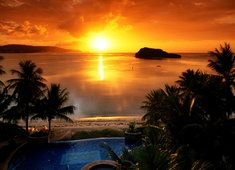 Ale ładny zachód słońca :-D