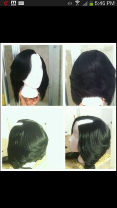 u part wig bob by OvernightBoutique on Etsy: (braid short hair for sew in) Love Hair, Great Hair, Natural Hair Styles, Short Hair Styles, Teresa, U Part Wig, My Hairstyle, Wig Bob, Hair Journey
