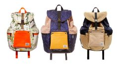 Look of the day: Rucksack appeal  This trio of rucksacks are the fruits of a collaboration between quirky French brand Carven and cult Japanese luggage label Porter