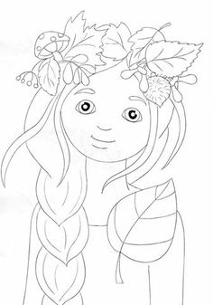 Fall Coloring Pages, Fairy Coloring, Doodle Coloring, Coloring Pages For Kids, Coloring Books, Autumn Activities For Kids, Cartoon Sketches, Autumn Crafts, Fabric Painting