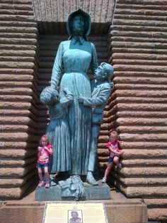 My kids at the Voortrekker monument in Pretoria