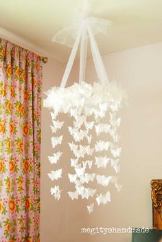 Super cute for a baby or little girl's room. Or maybe even as a shower decoration