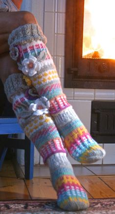 Ankortit: Flower-knitted lumoissa