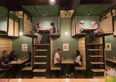 Where there's a will. There is a way. Impact your business with imagination Cafe Shop Design, Coffee Shop Interior Design, Bar Design, Bar Interior, House Design, Cool Restaurant Design, Architecture Restaurant, Deco Restaurant, Business