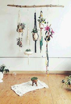 DIY Deko mit Pflanzen am Stock