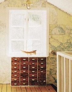 nautical map wall
