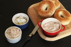 Good Cheap Eats convenience food series: How to make your own flavored cream cheese (with recipes for Green Onion, Strawberry, and Brown Sugar and Spice cream cheeses)