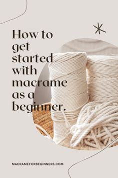 Learn how to get started with #Macrame as an absolute beginner. This step-by-step guide will go over all the basics, including which knots to learn, where to buy your supplies and colorful Macrame cords and where to find amazing free patterns! Make sure to join our Facebook group with over 9.000 members and ask all your questions! #macrameforbeginners #macrameguide #macramepatterns #macramesupplies #macramecords Macrame Plant Hanger Patterns, Macrame Wall Hanging Diy, Macrame Plant Hangers, Macrame Art, Macrame Design, Macrame Knots, Macrame Patterns, Macrame Jewelry, How To Macrame