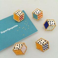 Beaded Bracelet Patterns, Peyote Patterns, Beading Patterns, Seed Bead Jewelry, Bead Jewellery, Bracelet Crafts, Jewelry Crafts, Art Perle, Brick Stitch Earrings