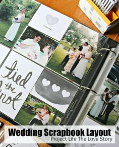 Easy Wedding Scrapbook Layouts. Great idea to design your own layout. I love the Project Life cards for their variety. No tutorial needed! ad