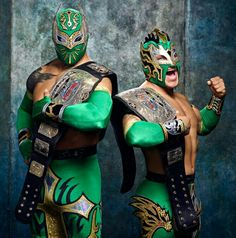 The Lucha Dragons; Sin Cara and Kalisto. They were NXT Tag Team Champions and Kalisto also is a former U.S. Champion.