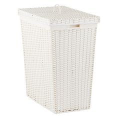 White Montauk Rectangular Hamper - possibly spray paint a different or metallic color?