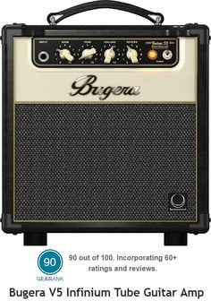 The Bugera V5 Infinium Tube Guitar Amp is the only tube amp under $200 recommended at https://www.gearank.com/guides/cheap-guitar-amp