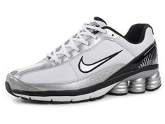 Chaussures Nike Shox R6 Argent/ Blanc/ Noir [nike_12304] - €46.93 : Nike Chaussure Pas Cher,Nike Blazer and Timerland  http://www.facebook.com/pages/Chaussures-nike-originaux/376807589058057  http://www.topchausmall.com/