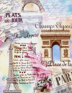 » Paris collection fromTimeless Treasures --another print that would make a wonderful One Block Wonder project!