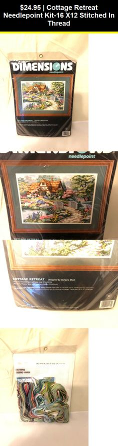 16 W x 10 H Dimensions Cottage Retreat Needlepoint Kit
