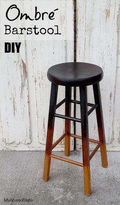 refinished ombr barstool my altered state, painted furniture