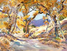 California Watercolor Art by Glen Knowles, American Artist – California Watercolor