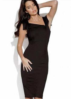 asymmetric neckline fitted dress - Google Search