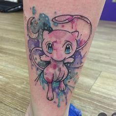 Clare La-La Lambert: Getting back on the Pokemon project tomorrow until then Nerdy Tattoos, Cartoon Tattoos, Sister Tattoos, Pokemon Mew, Pikachu, Pokemon Pink, Pokemon Tattoo, Kunst Tattoos, Body Art Tattoos
