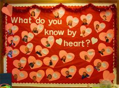 """what do you know by heart?"" bulletin board"
