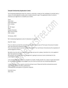 Scholarship Application Cover Letter Sample