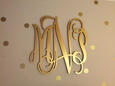 Monogram Wall Hangings small letter (shown in roman font) - southern nest | wooden