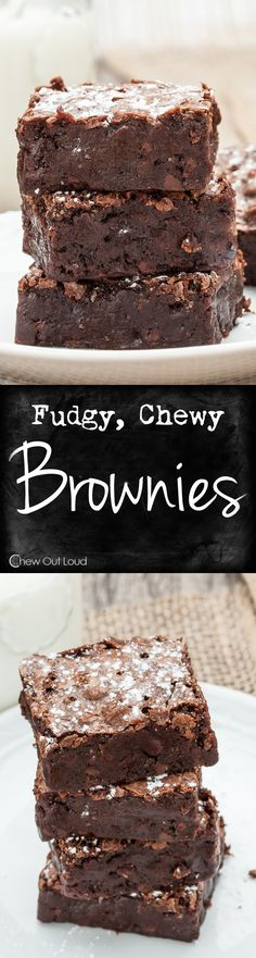 Wayyyy better than anything from a box. Nothing artificial. Supremely chewy, fudgy, and chocolatey.  #brownies #recipe