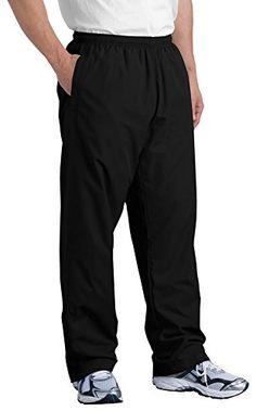 Sport-Tek Mens Wind Pant, Large, Black