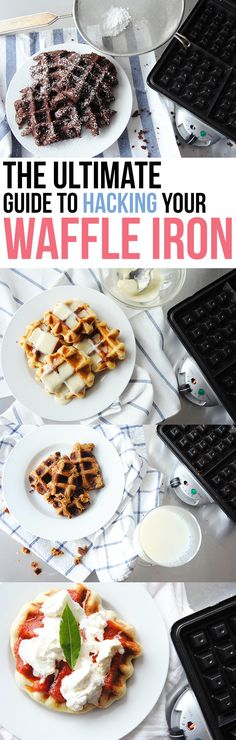 Never thought of placing dough other than waffle dough on the iron. Makes sense b