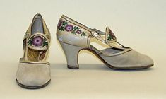 Pumps Designer: André Perugia (French, 1893–1977) Date: 1925 Culture: French Medium: leather Dimensions: Height (of heel): 2 5/8 in. (6.7 cm)