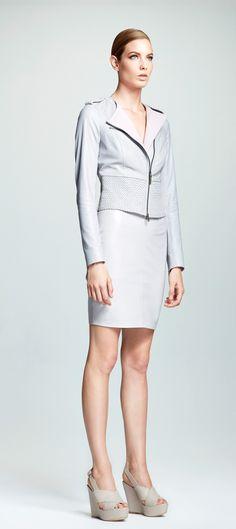 V S P Spring Summer 16 Shearling Coat, Sophisticated Style, Ss16, Peplum Dress, Dresses For Work, Spring Summer, Models, Skirts, Leather