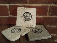 Dirty Kanza 200 stone coasters by whattawaist on Etsy https://www.etsy.com/listing/192459391/dirty-kanza-200-stone-coasters