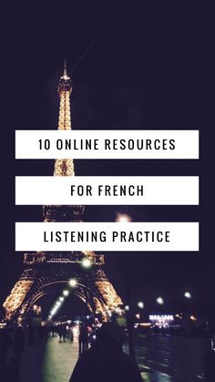 10 Online Resources for French Listening Practice Online - Real Life Language French Teacher, Teaching French, Learn To Speak French, French For Beginners, Learn French Beginner, Language Immersion, Study French, Importance Of Time Management, French Grammar