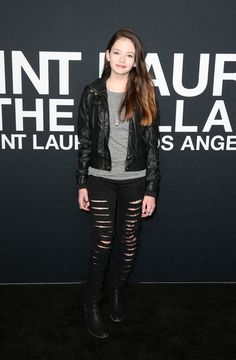 Mackenzie Foy Photos - Actress Mackenzie Foy arrives at the Saint Laurent show at The Hollywood Palladium on February 10, 2016 in Los Angeles, California. - SAINT LAURENT At The Palladium - Arrivals