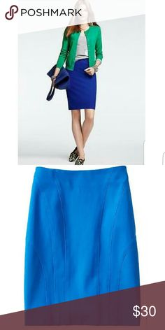 "*WAS $35!* NWT BANANA REPUBLIC | SEAMED SKIRT * Gorgeous Royal Blue color * Curved seams in front create flattering silhouette  * Hidden back zipper  * Cotton/rayon/spandex blend gives nice stretch  * Brand new with tags  * Appx Length 20"" * Being cross listed   Waist measurements: Sz 0 - 25"" Sz 2 - 26"" (SOLD OUT) Sz 4 - 28"" Sz 8 - 30"" (SOLD OUT) Waist does have a little stretch. For body conscious fit, buy true to size. Go up one size for slim fit.  Over 175 items listed so bundle to save…"