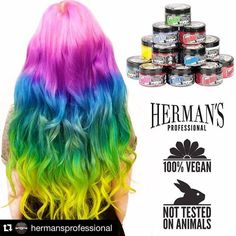 ・・・ NEW ARRIVAL - Vegan friendly, cruelty free hair dye from Herman's Amazing Direct Hair Color! Cruelty Free Hair Dye, Cruelty Free Makeup, Crazy Colour, Cut And Color, Vegan Essentials, You Look Beautiful, Hair Shows, Funky Hairstyles, Freundlich