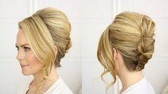 Brigitte Bardot hairstyle Updo French roll - YouTube