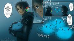 Chrome's Little Bird 5 by Jon-Lock on deviantART Manga Art, Manga Anime, Anime Art, Anime Boys, The Awkward Yeti, Otaku, Horror, Anime Version, Apps