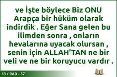#ALLAH #KURAN #RAD  13 / RAD - 37