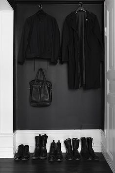 All black everything, but keep the doors white so you can actually find your way out.