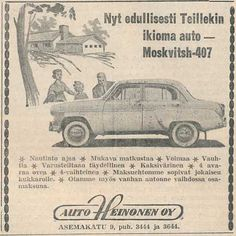 Mosse-mainos ((Salon Seudun Sanomat 15.6.1960) Retro Ads, Vintage Ads, Vintage World Maps, Map Pictures, Old Commercials, Old Toys, Ancient History, Finland, Nostalgia