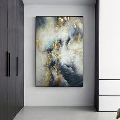Hand Painting Art, Painting Frames, Painting Canvas, Canvas Home, Canvas Wall Art, Art Pour Salon, Rooms Home Decor, Living Room Art, Blue Abstract